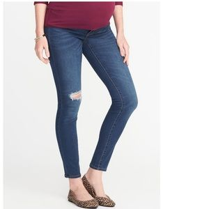 Old Navy Maternity Side Panel Rockstar Jeans
